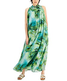 INC Smocked Printed Dress, Created for Macy's