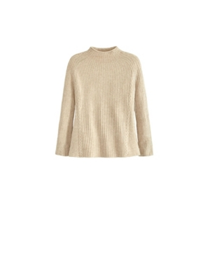 Women's Plus Size Mock Neck Pullover with Wales Sweater