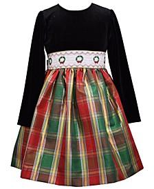 Toddler Girls Empire Bodice Plaid Dress