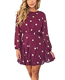Women's Spotty Pleated Skirt Dress