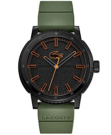 Men's TR90 Green Silicone Strap Watch 44mm
