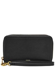 Women's Logan Mid Size Zip Around Leather Wallet