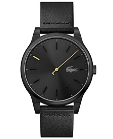 Men's Kyoto Black Leather Strap Watch 43mm