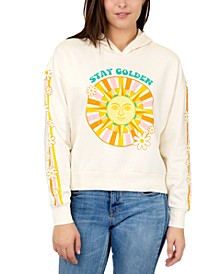 Trendy Plus Size Stay Golden Hooded Sweatshirt