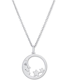 "Moon & Stars 18"" Pendant Necklace, Created for Macy's"