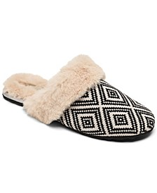 Women's Cleo Cozy Aztek Slip-On Faux Fur Comfort Slippers from Finish Line