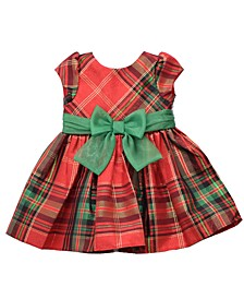 Toddler Girls Plaid Waistline Dress