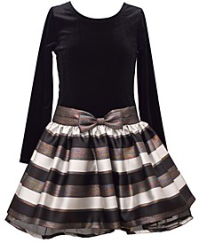 Big Girls Jacquard Stripe Dress