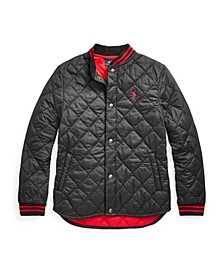 Big Boys Water Resistant Quilted Baseball Jacket
