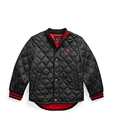Toddler Boys Water Resistant Quilted Baseball Jacket