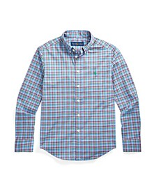 Big Boys Plaid Poplin Shirt