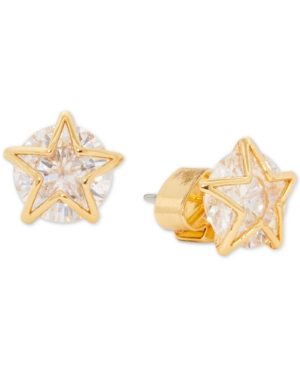 Kate Spade Women's Something Sparkly Goldtone & Cubic Zirconia Star Stud Earrings In Clear/ Gold