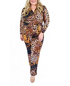 Women's Plus Alexa Wrap Jumpsuit