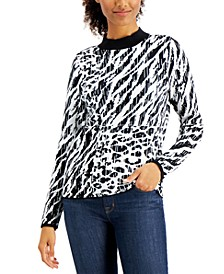 Animal-Print Sweater