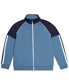 Big Boys Long Sleeve Full-Zip Color block Track Sweatshirt