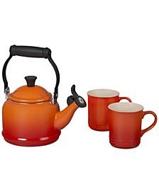 3-Pc. Demi Kettle & 2 Mugs Set