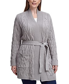 Plus Size Soft Cable Cozy Cardigan
