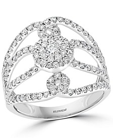 EFFY® Diamond Openwork Statement Ring (7/8 ct. t.w.) in 14k White Gold