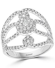 EFFY® Diamond Openwork Statement Ring (7/8 ct. t.w.) in 14k White Gold