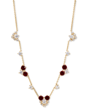 18K Gold-Plated Cubic Zirconia Cluster Statement Necklace