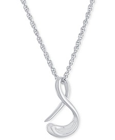 "Script Initial 18"" Pendant Necklace in Sterling Silver, Created for Macy's"