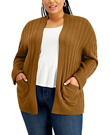 FULL CIRCLED TRENDS Trendy Plus Size Cardigan