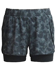 Camo Layered Shorts, Created for Macy's
