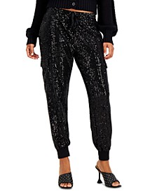 INC Sequin Jogging Pants, Created for Macy's