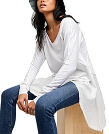Comin In Hot Asymmetrical Contrast Tunic