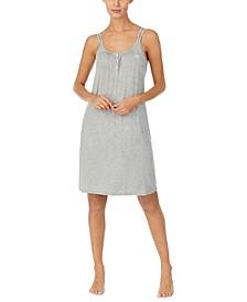 Stripe-Print Knit Nightgown
