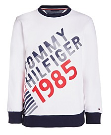 Little Boys 1985 Printed Mesh Crew Sweatshirt