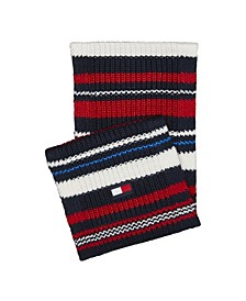 Men's Chunky Variegated Striped Scarf