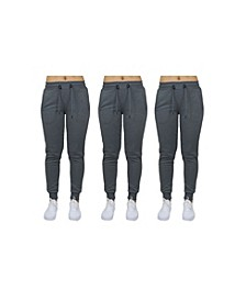 Women's Loose Fit French Terry Jogger Sweatpants - 3 Pack