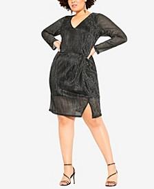 Women's Trendy Plus Size Sparkle Dress