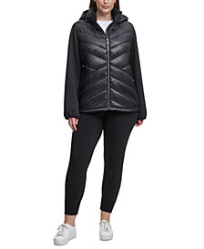 Calvin Klein Performance Plus Size Hooded Jacket
