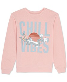 Juniors Bugs Bunny Graphic Print Sweatshirt