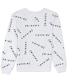 Juniors Friends Print Sweatshirt