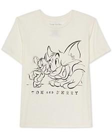 Juniors Graphic Print Tom & Jerry T-Shirt