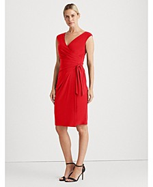 Jersey Wrap-Style Dress