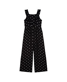 Big Girls Dot Jumpsuit