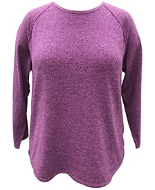 Plus Size Cotton Curved Hem Top, Created for Macy's