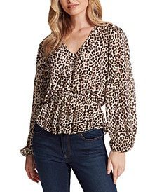 Bettina Animal-Print Top