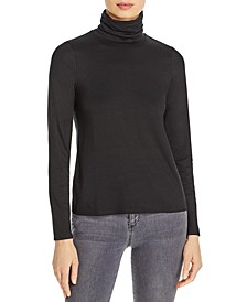 Solid Turtleneck Top