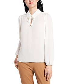 Marcella Imitation Pearl-Trim Blouse, Created for Macy's