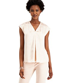 Printed Inverted-Pleat Top, Created for Macy's
