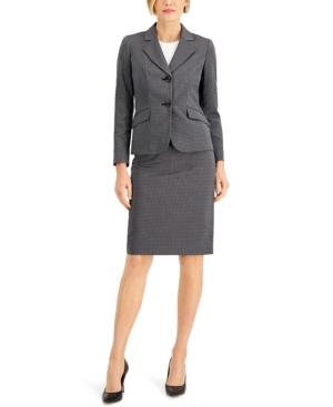 Linear Dot Jacquard Skirt Suit