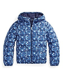 Big Girls Floral Water Resistant Jacket