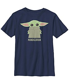 Big Boys Star Wars Mandalorian Child Covered Short Sleeve T-shirt