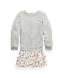 Little Girls Plaid Skirt Sweatshirt Dress