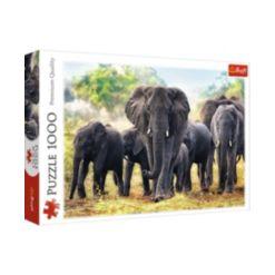 Jigsaw Puzzle African Elephants, 1000 Piece